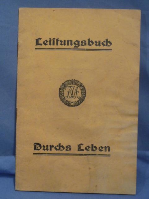 Original 1935 German DRL Qualification Booklet