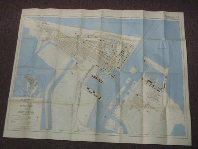 Original WWII German LARGE Afrikakorps Map