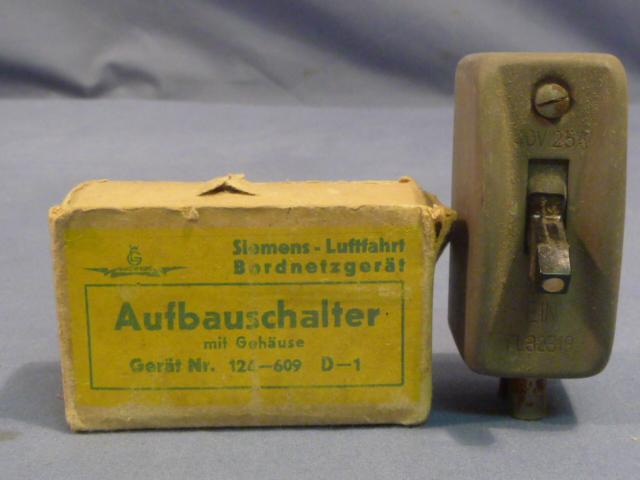 Original WWII German Aircraft Switch