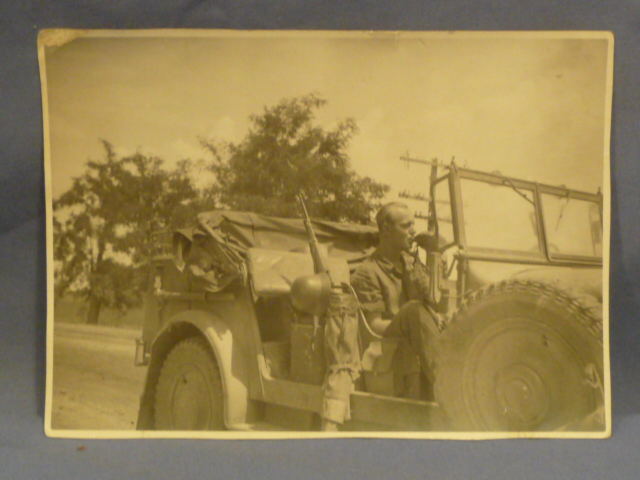 Original WWII German Larger Photograph, Break Time!!!