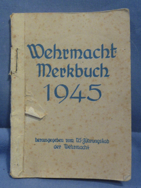 Original WWII German Soldiers 1945 Calendar Book, RARE!!!!