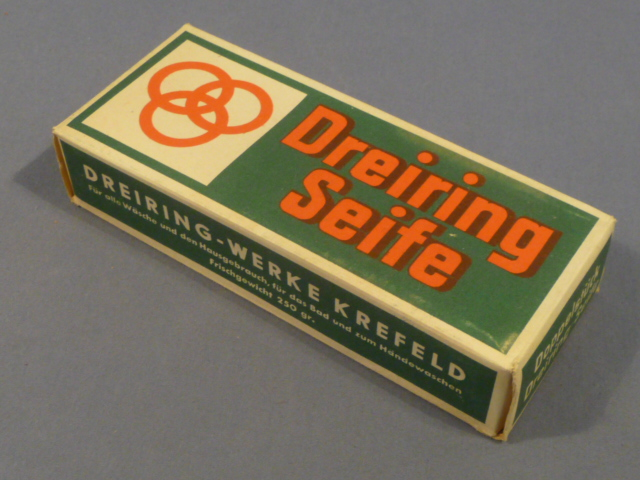 Original WWII Era German Boxed Soap, Three Ring Brand