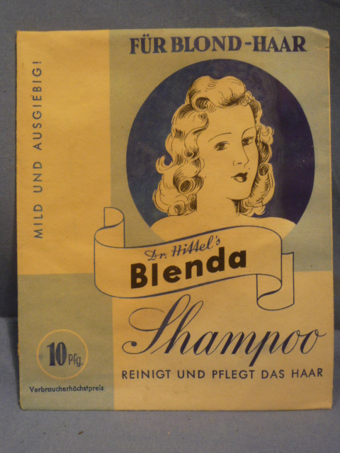 Original WWII Era German Shampoo for Blond Hair