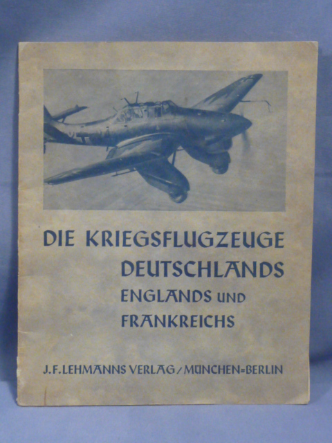 Original WWII German Book, The War Planes of Germany, England & France