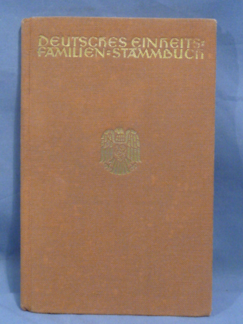 Original WWII German Familien-Stammbuch (Family Tree) Book