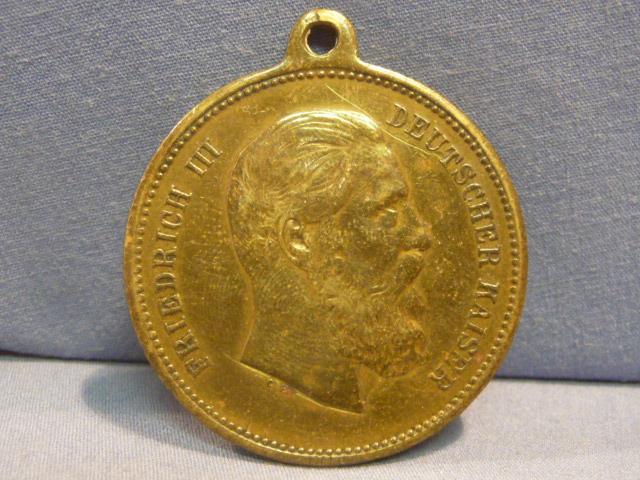 Original Pre-WWI German Friedrich III Medal