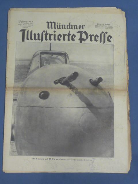 Original WWII German Newspaper, M�nchner Illustrierte Presse
