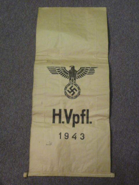 RARE! Original WWII German Large Paper Ration Bag - UNUSED!