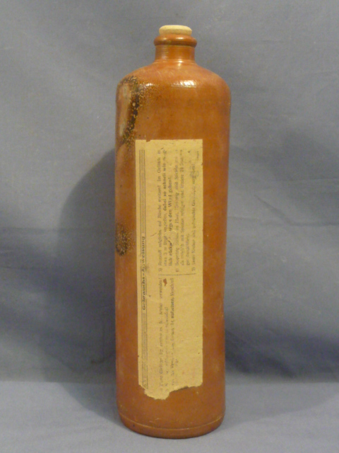 Original WWII German Tear Gas Bottle w/Lid