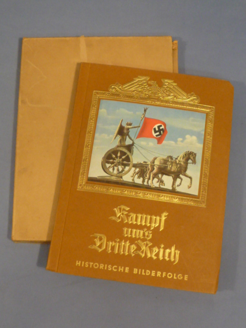 Original 1933 German Cigarette Card Book FIGHT FOR THE THIRD REICH w/Protective Cover