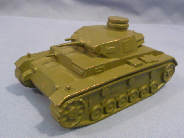 Original WWII US Army Training Enemy Tank Recognition Model, German Panzer III