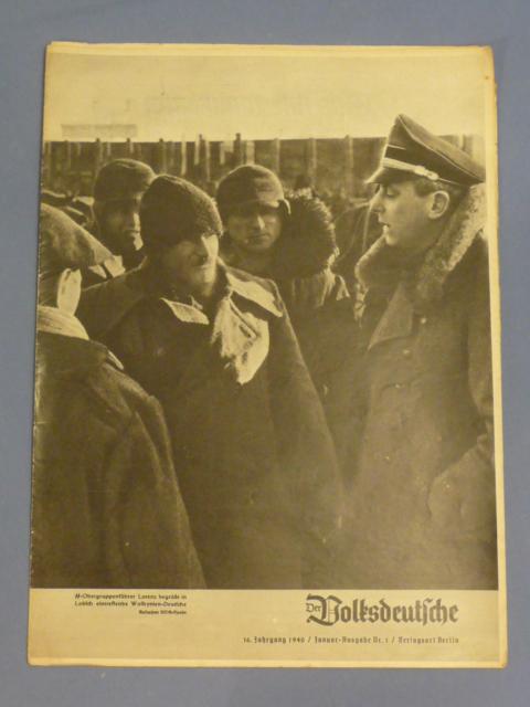 Original WWII German Magazine, Der Volksdeutsche