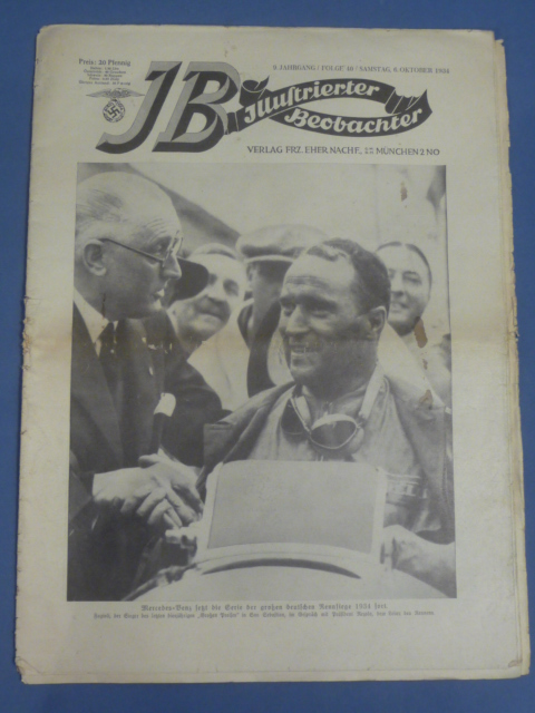Original WWII German Newspaper, Illustrierter Beobachter