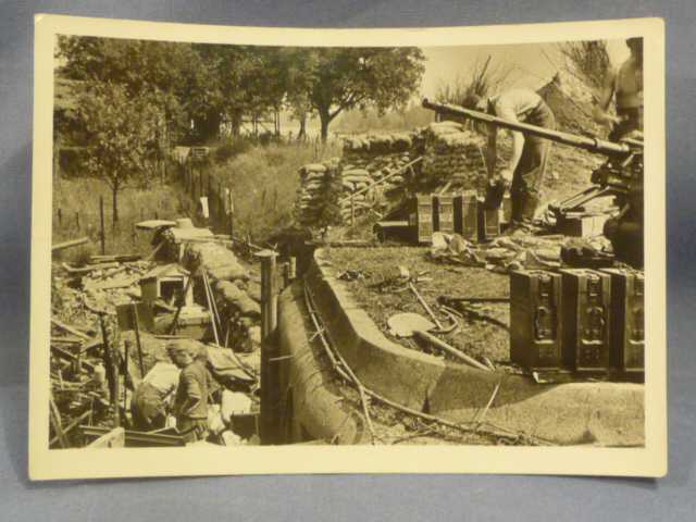 Original WWII German Photograph, 2cm FLAK Installation