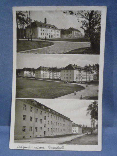 Original WWII German Postcard, Leibgarde Barracks