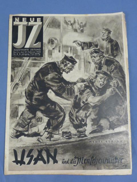 Original 1935 German Magazine, Neue Illustrierte Zeitung