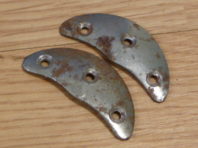Original WWII German Boot Toe Plates, Pair, SIZE 1