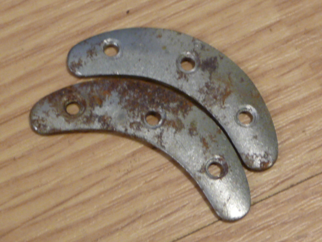 Original WWII German Boot Toe Plates, Pair, SIZE 2