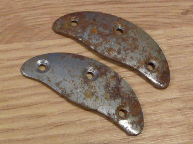 Original WWII German Boot Toe Plates, Pair, SIZE 3