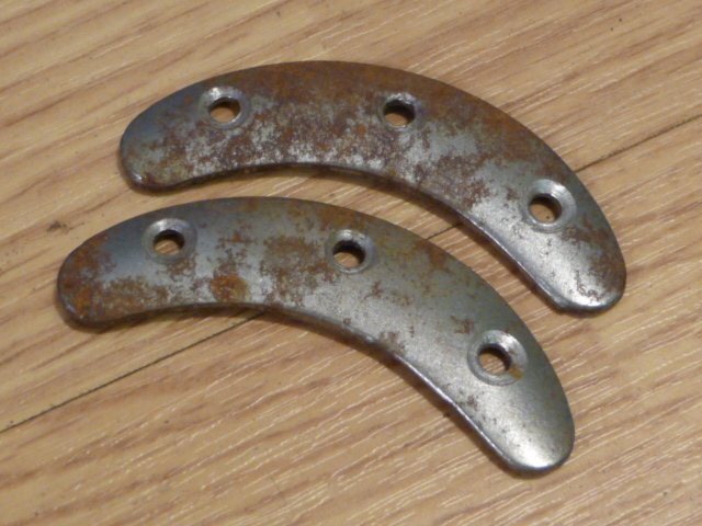Original WWII German Boot Toe Plates, Pair, SIZE 4