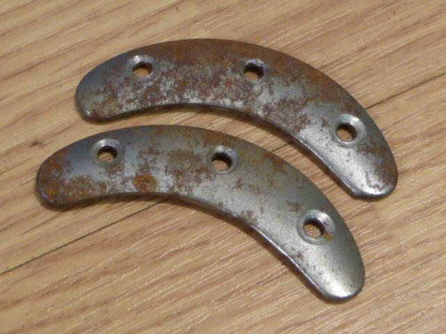 Original WWII German Boot Toe Plates, Pair, SIZE 4