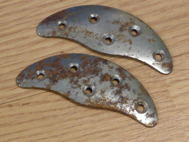 Original WWII German Boot Toe Plates, Pair, SIZE 9