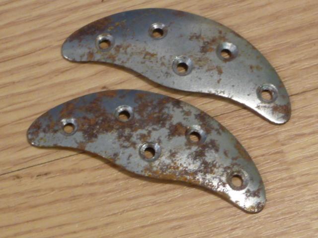 Original WWII German Boot Toe Plates, Pair, SIZE 9