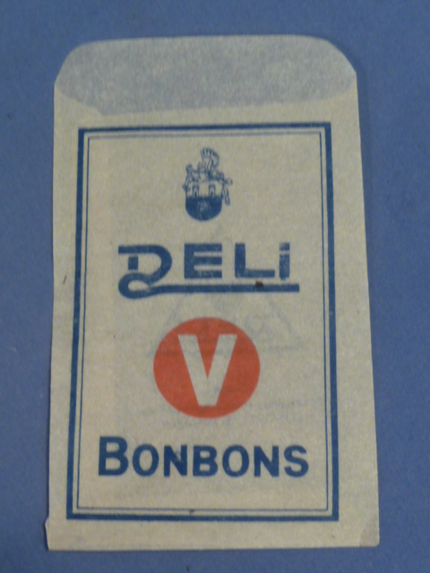Original WWII Era German Paper Envelope for DELI Brand Bonbons