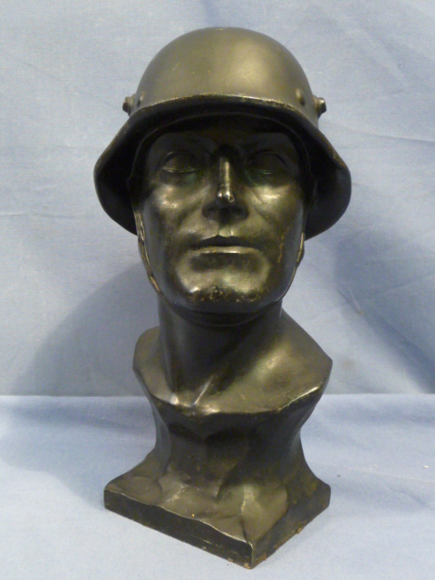Original WWII German Metal Soldier�s Bust
