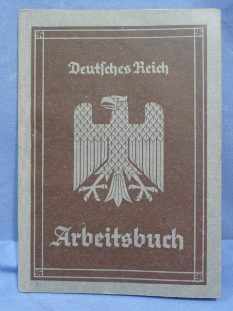 Original WWII German Arbeitsbuch, 1st Type