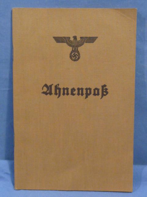 Original Nazi Era German Ahnenpa� (Family Tree) Book