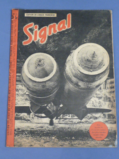 "Original WWII German ""Signal"" Magazine (French Language), 1941"