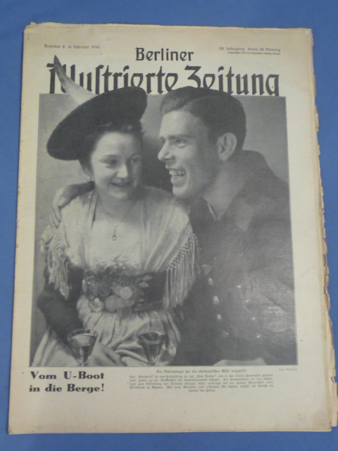 Original WWII German Magazine, Berliner Illustrierte Zeitung, U-Boat Man