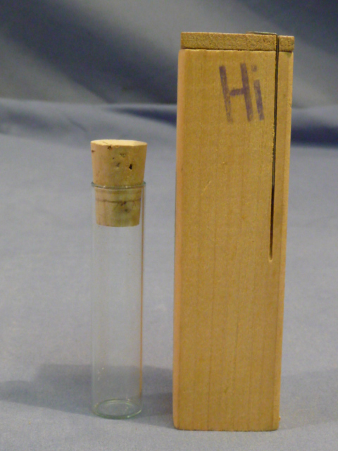 Original WWII Era German Medical Sample Bottle in Wooden Box