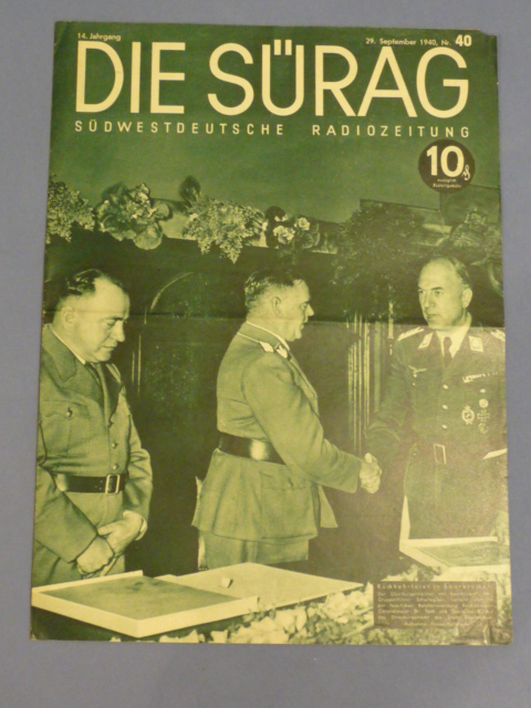 Original WWII German Magazine Die S�rag
