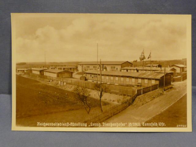 Original WWII German Printed Photo Postcard, RAD CAMP!!!