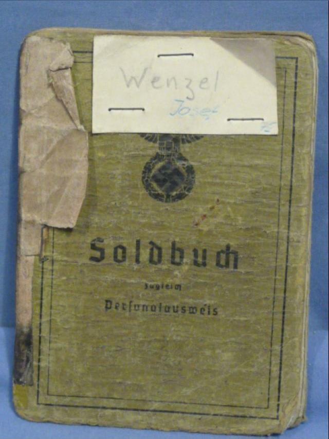 Original WWII German Sturmgesch�tz Unit Soldier's Soldbuch/Documents Grouping