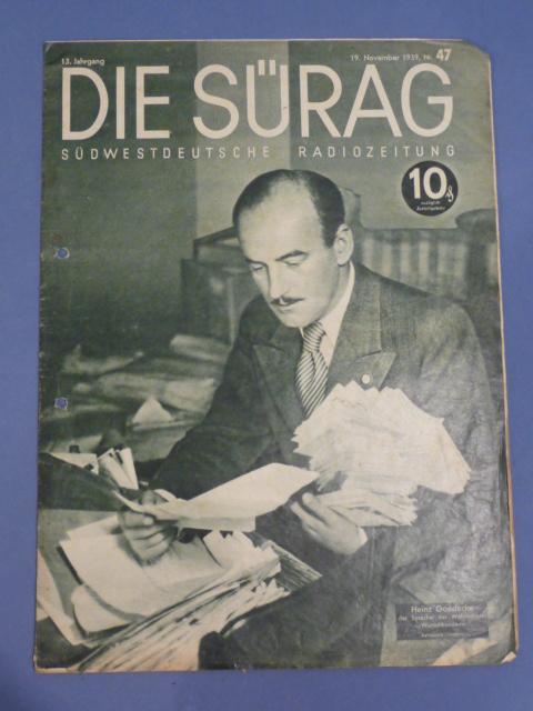 Original WWII German Magazine Die S�rag
