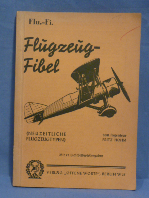 Original Pre-WWII German Private Purchase Manual, Flugzeug-Fibel
