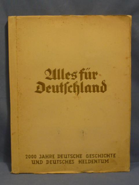 Original WWII Era German Cigarette Card Album, All for Germany