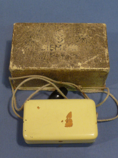 Original WWII German Boxed Metal Razor Blade Sharpener, SEIMENS
