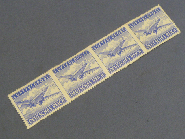 Original WWII German Wehrmacht Issued Feldpost Stamps, Airmail