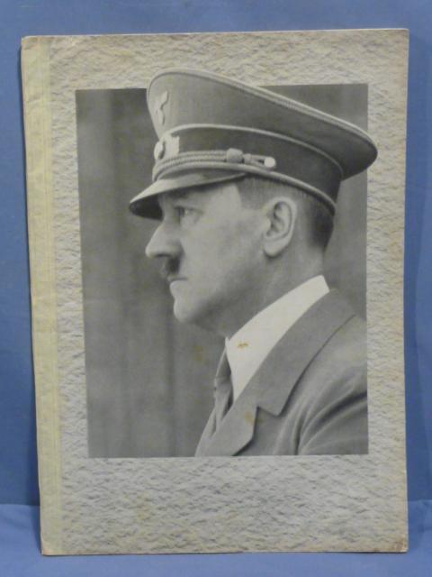 Original WWII German Book, UNSER F�HRER