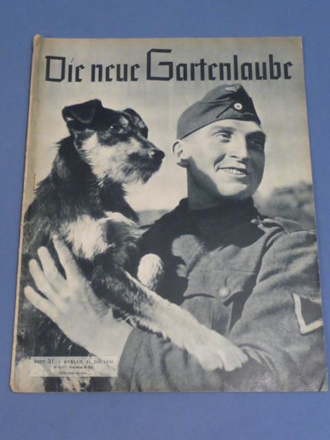 Original WWII German Magazine, Die neue Gartenlaube