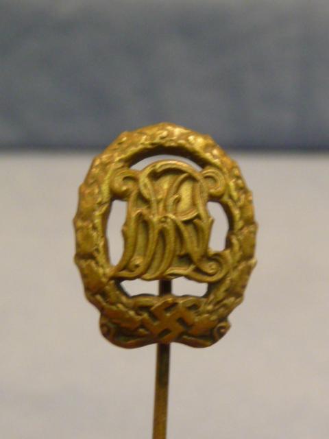 Original WWII German DRL Sports Badge Medal Miniature, 16mm