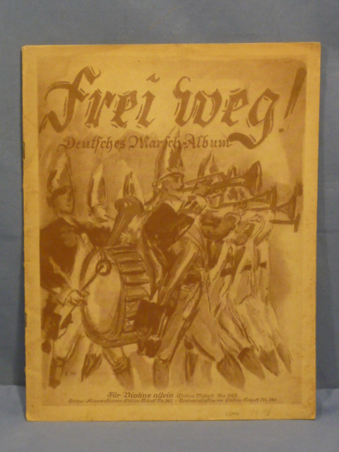 Original WWI German March Song Book for Piano, Violin and Violoncello