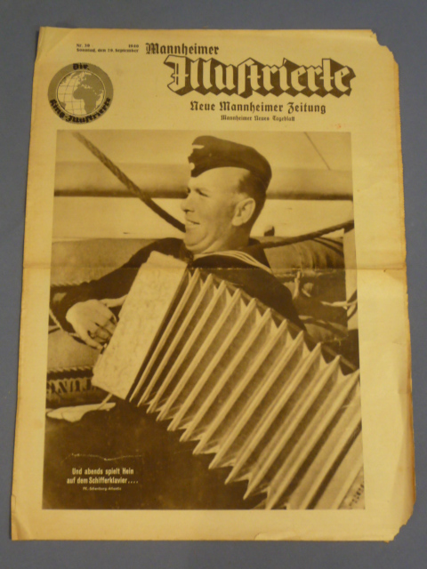 Original WWII German Newspaper, Mannheimer Illustrierte