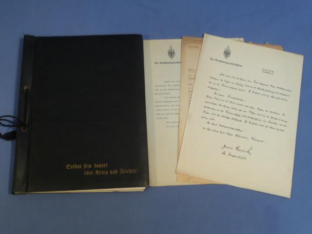 Original Nazi Era German Veteran's BOOK OF HONOR