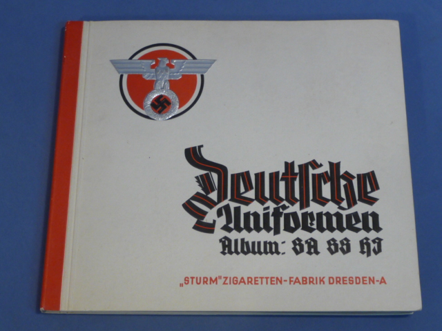 Original Nazi Era German Cigarette Card Album, Uniforms of the SA/SS/HJ