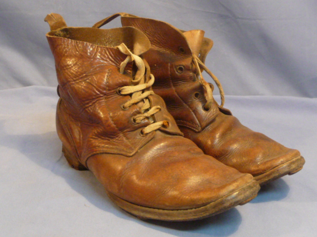 Original WWII Japanese Leather Ankle Boots